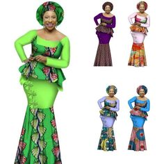 African Style Top and Long Skirt Women Cotton Print Kitenge Ankara O-Neck African Dashiki, Ankara Tops, Evening Dresses Plus Size, Long Skirts For Women, Kitenge, Skirt Set, African Style, Cotton, Hair