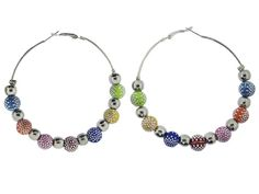 Basketball Wives Earrings : Multi Color