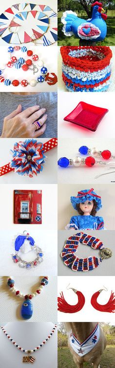 ~ OLD GLORY ~ by Cappriell McQuiston on Etsy--Pinned with TreasuryPin.com #Etsyvintage #Estyhandmade #summerfinds
