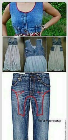 2019 The post 2019 appeared first on Denim Diy. Diy Vetement, Denim Ideas, Denim Crafts, Recycle Jeans, Recycled Denim, Denim And Lace, Clothing Hacks, Denim Outfit, Sewing Clothes