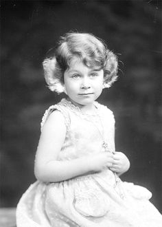 1931 Princess Elizabeth, the future Queen Elizabeth II, aged four, photographed by Marcus Adams. © The Royal Collection. Young Queen Elizabeth, Elizabeth Of York, Princess Elizabeth, Princess Margaret, Hm The Queen, Royal Queen, Her Majesty The Queen, Royal Princess, Princess Diana