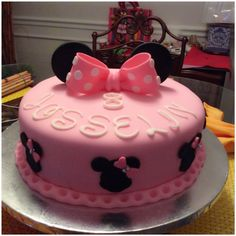 Minnie Mouse cake  https://www.facebook.com/pages/Sweet-Rose-Cakes/1585183115076602