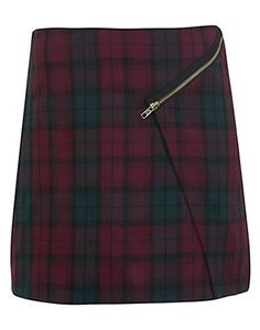 Miss Selfridge Tartan Mini Skirt