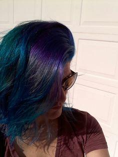 Arctic Fox hair colors: aquamarine, purple, and Poseidon (blue)...