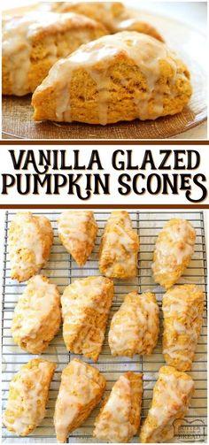 Brunch Recipes, Fall Recipes, Holiday Recipes, Breakfast Recipes, Scone Recipes, Recipes With Pumpkin, Fall Dessert Recipes, Recipes Dinner, Pumpkin Baking Recipes