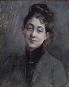 """Giovanni Boldini (Italian,1842-1931) """"Ritratto di giovane donna"""" 1890-1895"""