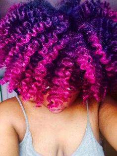 beauty hair black girls pink purple natural color pink hair ...
