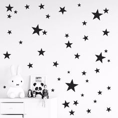 150pcs Mixed Size Easy Apply Removable Starry Stars Wall Stickers, Kids  Room Environmental Friendly
