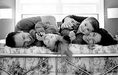I've seen a lot of family photos on the bed, but I haven't seen the laying on the side shot... loving this...