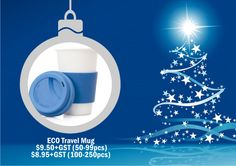 Eco Travel Mug. For corporate gift ideal talk to Wizid Promotions by calling 1300 4 WIZID. Great Christmas Gifts, Corporate Gifts, Travel Mug, Gift Ideas, Mugs, Promotional Giveaways, Tumblers, Mug, Cups