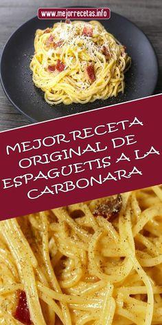 Easy Pasta Recipes, Easy Dinner Recipes, Healthy Recipes, Pasta A La Carbonara, Spaghetti And Meatballs, Vegetarian Recipes Dinner, Beef Bourguignon, Food And Drink, Favorite Recipes
