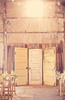 rustic door backdrop for pictures