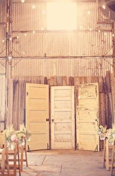 rustic door backdrop for pictures