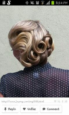 waves and pin curls, vintage