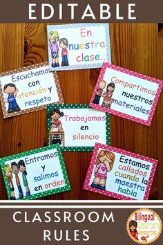Bilingual Classroom, Bilingual Education, Classroom Language, Spanish Classroom, Teaching Spanish, Classroom Themes, Spanish Teacher, Reading Resources, Teacher Resources