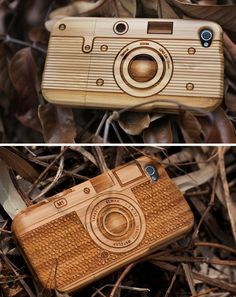 Natural wood iPhone, iPod, and iPad cases, from SigniCase, via Modish Blog