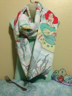 Disney's The Little Mermaid Vintage Infinity Scarf