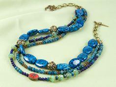 Boho Blue Necklace http://www.artbeads.com/boho-blue-gemstones-multi-strand-necklace.html?utm_source=emn&utm_medium=email&utm_campaign=20141030LC