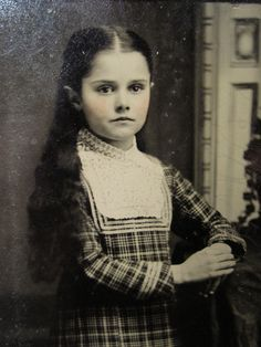Antique American Beauty Girl Long Hair Artistic Standing Portrait Tintype Photo   eBay