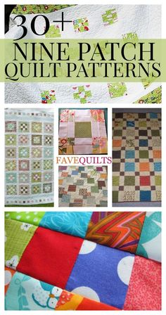 30+ Free Nine Patch Quilt Patterns + Other Nine Patch Designs   These free quilt patterns are super cute and make for the best blankets!