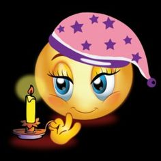 Good Nigh Girl With Candle Emoji Animated Smiley Faces, Smiley Emoticon, Funny Emoji Faces, Emoticon Faces, Good Night Greetings, Good Night Wishes, Good Night Sweet Dreams, Smile Wallpaper, Emoji Wallpaper