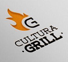 The grill Logos Logo Desing, Food Logo Design, Logo Food, Brand Identity Design, Branding Design, Logo Restaurant, Restaurant Design, Grill Logo, 3d Cnc