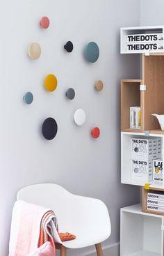 DesignVille Store: Muuto The Dots Cottage Furniture, Diy Furniture, Furniture Design, Home Bedroom, Room Decor Bedroom, Muuto, Studio Apartment Decorating, Baby Boy Rooms, Girl Room