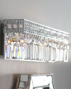 Polished Chrome Vanity Sconce at Horchow. WOW, WOW, WOW. For my someday new bathroom with my old silver mirror from the 1920's.