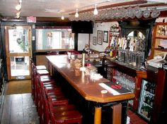 The bar at the Wharf Pub in Newport, Rhode Island as seen in American Public House Review