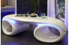 Une table basse qui au delà d'être une table est une vraie oeuvre d'art. Bande de led, pour un design unique dans votre salon. Du laqué pour une sobriété et un chic tendance. Vous prendrez plaisir à la regarder c'est certain.  http://mobiliernitro.com/