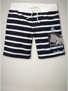 His 1st swimming suit!!!  He will be spending so much time at our pool in this one!