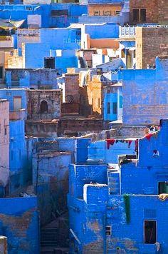 - the Blue City Jodhpur - The Blue City, India. Photo by Mike WeiserJodhpur - The Blue City, India. Photo by Mike Weiser Jodhpur, The Places Youll Go, Places To See, Beautiful World, Beautiful Places, Taj Mahal, India Travel, Incredible India, Amazing