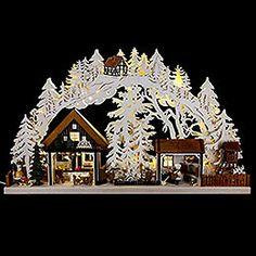 OVP In box  3D LED Schwibbogen Bergmänner Tradition Erzgebirge 12 cm Weihnachten