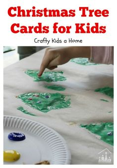 Nothing says it more than a home-made card at Christmas. Make these sponge painted Christmas Tree cards with your kids and send them to family or friends in their class. A fun Christmas Activity for toddlers, preschoolers and older children to enjoy.