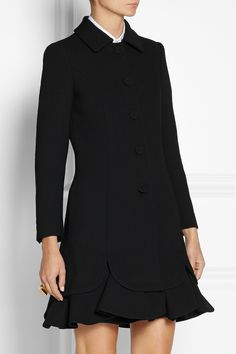 Moschino | Ruffled wool-crepe coat | NET-A-PORTER.COM
