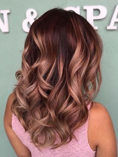 Combination Of Rose Gold & Brunette Hair Colors for 2018