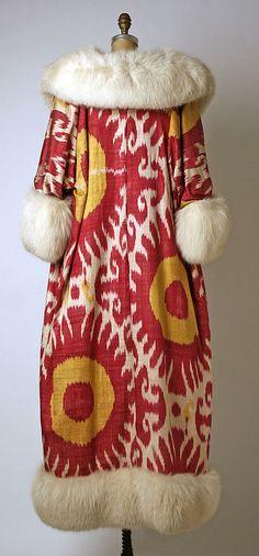 ikat // evening coat 1966 by Maxmilian. Worn by Annette Reed (later de la Renta)