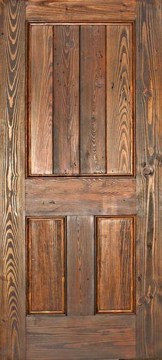 If you dream it, we can create your custom door. - RECLAIMED heart pine.