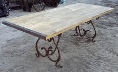 Wrought Iron Table Base   Recycling the Past - Architectural Salvage