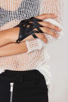 Web of Lies Vegan Leather Hand Piece