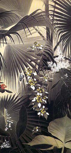Image of Tanaka Ichimura (No. Japanese Artwork, Japanese Painting, Japanese Prints, Estilo Tropical, Art Chinois, Art Japonais, Art Graphique, Japan Art, Fine Art
