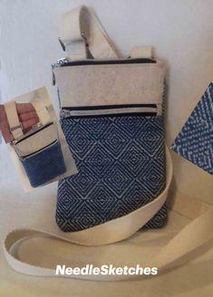 Handmade bag- perfect for keys, glasses and phone. Handmade Fabric Bags, Slow Fashion, Bag Making, Louis Vuitton Damier, Keys, Crossbody Bag, Glasses, Phone, Pattern