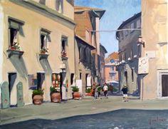 Piazza del Duomo di Orvieto (2016) Oil painting by Marco Carloni   Artfinder