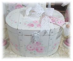Shabby hp pink roses Rose Cottage Box www.misfitrosey.com