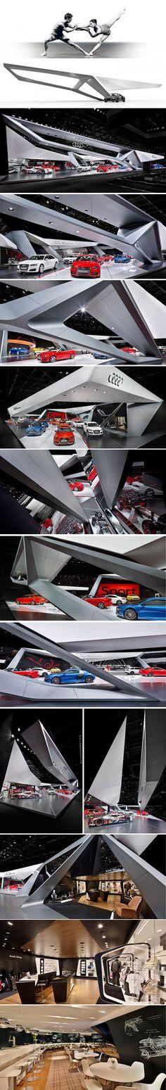 Audi Paris 2014 Schmidhuber exhibition design