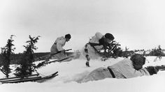 Finnish ski troops on the offensive.