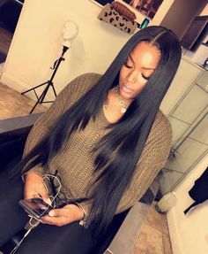 Human Hair Bundles Lace Closure Non Remy Hair Weft Brazilian Straight Hair Weave 3 Bundles With Closure. Are you looking for long black straight hairstyles? See our collection full of long black straight hairstyles and get inspired! Sew In Weave Hairstyles, African Hairstyles, Wig Hairstyles, Straight Hairstyles, Black Hairstyles, Trendy Hairstyles, Hairstyles Pictures, Short Haircuts, Female Hairstyles
