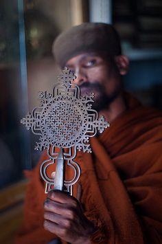 Ethiopian Orthodox priest, Lake Tana, Ethiopia