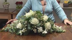 Check out this educational resource to help you create your very own funeral flower arrangement. Watch this complete tutorial on How To Do A Funeral Flower Arrangement from one of Videojug's professionals. Funeral Floral Arrangements, Church Flower Arrangements, Church Flowers, Funeral Flowers, Wedding Flowers, Cemetery Flowers, Grave Flowers, Casket Flowers, Silk Flowers