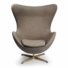Jacobsen Egg Chair - Arne Jacobsen is one of the most well-known furniture designers of the century. Known best for his Egg Chair, Swan Chair, and Series 7 Chairs, . Pink Desk Chair, Office Chair Mat, Egg Chair, Office Chairs, Pink Chairs, White Chairs, Wingback Accent Chair, Teal Accent Chair, Chair Upholstery